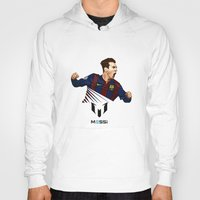 messi Hoodies featuring Lionel Messi by Just Agung