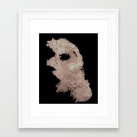 in the flesh Framed Art Prints featuring Flesh by Vezper Art