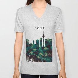 Essen Skyline Unisex V-Neck