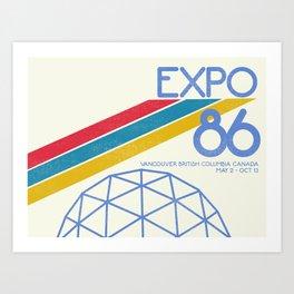 Retro Expo '86 Art Print