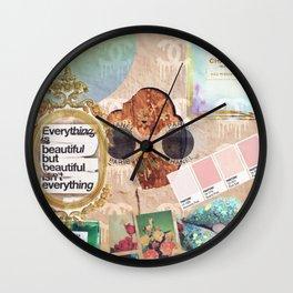 Designer Vintage Fashion Collage Wall Clock