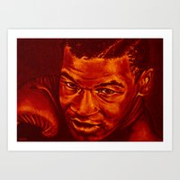 mike tyson Art Prints featuring tyson /variante/! by noblackcolor