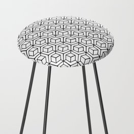 Hand Drawn Hypercube Counter Stool