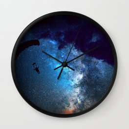 gliding to the galaxy Wall Clock