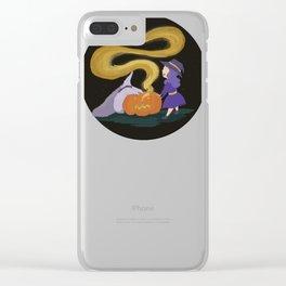 Pumpkin magic Clear iPhone Case