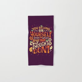 Thoughts are only thoughts Hand & Bath Towel