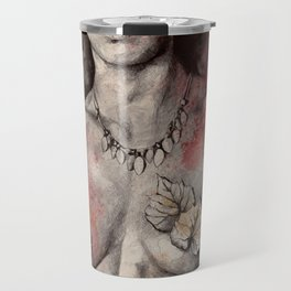Colony Collapse Disorder (topless warrior woman with leaves on nude breasts) Travel Mug