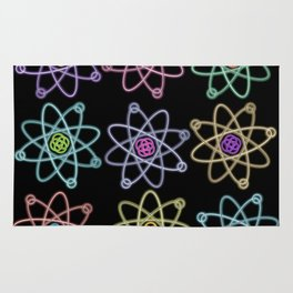 Gold and Silver Atomic Structure Pattern Rug