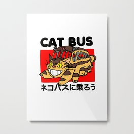Cat Bus Metal Print
