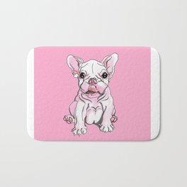 Frenchie Pup Bath Mat