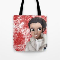 princess leia Tote Bags featuring Leia by BellaG studio