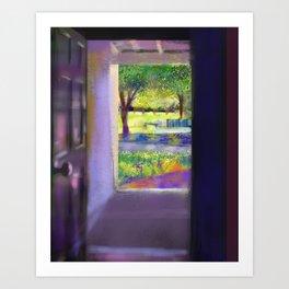 Outside the door Art Print