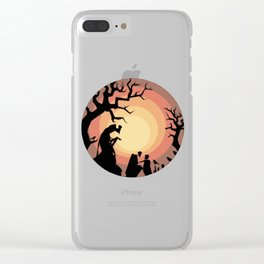 Deathly Hallows art Clear iPhone Case