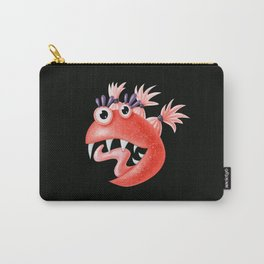 Funny Monster Crazy Silly Creature With Ponytails Carry-All Pouch