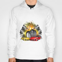 cars Hoodies featuring Cars by ismailburc
