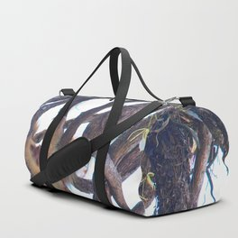 Two-toed sloth and orchids in Costa Rica Duffle Bag