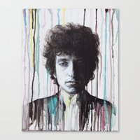 bob dylan Canvas Prints featuring Bob Dylan by Denise Esposito