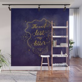 The owl lost my letter Wall Mural