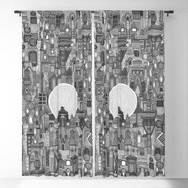 space city mono bw Blackout Curtain