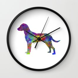 Montenegrin Mountain Hound in watercolor Wall Clock