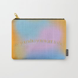 orange gradient aura retro abstract Carry-All Pouch