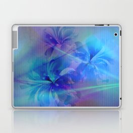 Soft  Colored Floral Lights Beams Abstract Laptop & iPad Skin