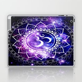 om mandala: purple blue space Laptop & iPad Skin