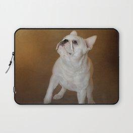 Little Beggar - White French Bulldog Laptop Sleeve