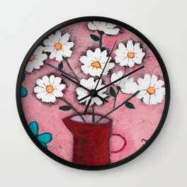 Daisies and Friends Wall Clock