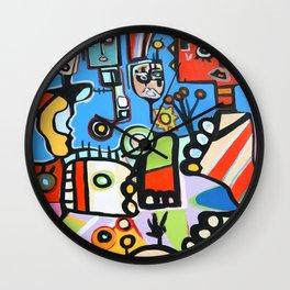 FUNKY CITY 2-BY DEREK ERSKINE Wall Clock