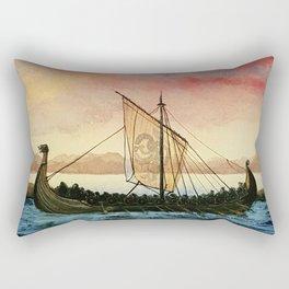 Drakkar, watercolor Rectangular Pillow