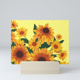 September Garden. Yellow flowers Mini Art Print