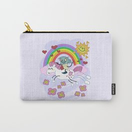 Unicorn Rainbow Ride to Love - Steve, the loving zombie Carry-All Pouch