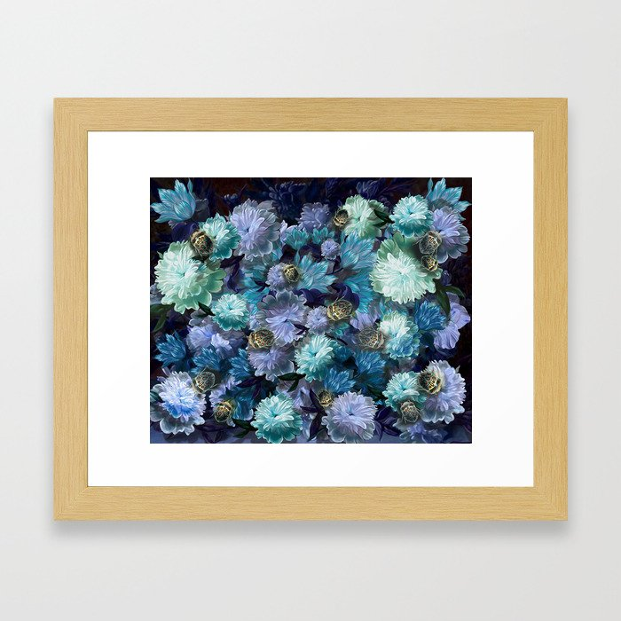 """""""Baroque floral with bugs"""" Framed Art Print"""