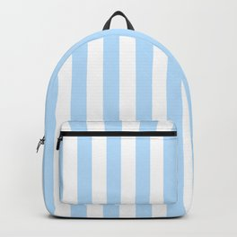 Classic Seersucker Stripes in Blue + White Backpack