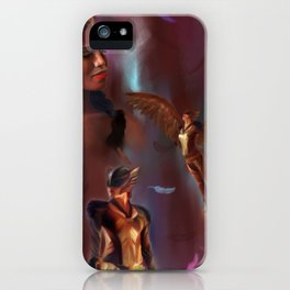 Fly safe, Hawkgirl iPhone Case