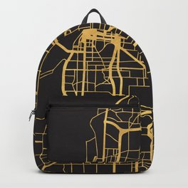 MEMPHIS TENNESSEE GOLD ON BLACK CITY MAP Backpack