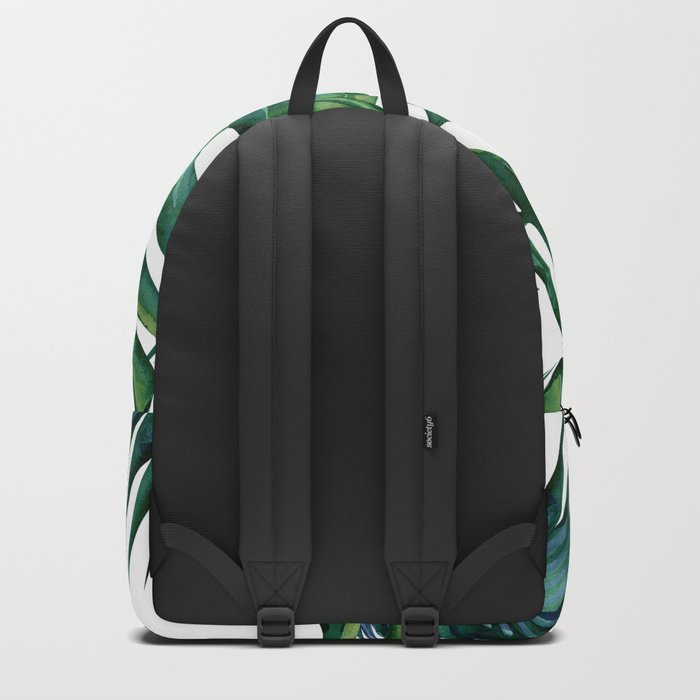 Classic Palm Leaves Tropical Jungle Green Backpack