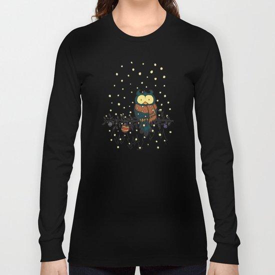 Owl in the snow v2 Long Sleeve T-shirt
