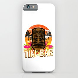 Follow Me To The Tiki Bar Hawaiian Luau Party Pun Design Vacation Gift iPhone Case