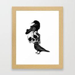 Two Ravens Framed Art Print