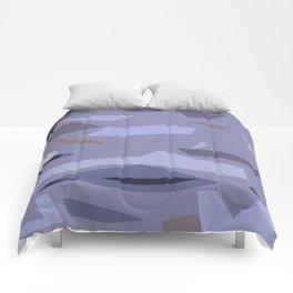 Fragmented Violet Comforters