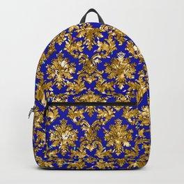 Christmas Gold & Torea Bay Blue Pattern Backpack
