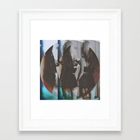twins Framed Art Prints featuring Twins by Jane Lacey Smith