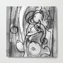 Abstract Nude Goddess No. 40K by Kathy Morton Stanion Metal Print