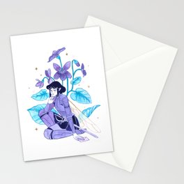 The Violet Knight - Ink Painting Stationery Cards