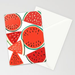 Sliced Watermelon Stationery Cards
