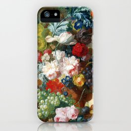 Fruit and Flowers in a Terracotta Vase by Jan van Os iPhone Case