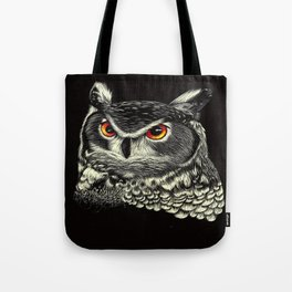 Bright-Eyed Owl Tote Bag