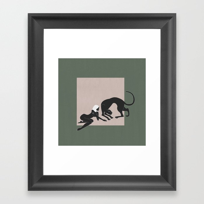 Panther Woman Gerahmter Kunstdruck